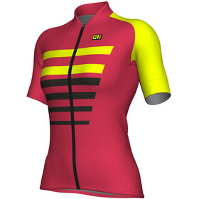 Alé Cycling R-EV1 Piuma Short Sleeve Jersey Women strawberry-fluo yellow
